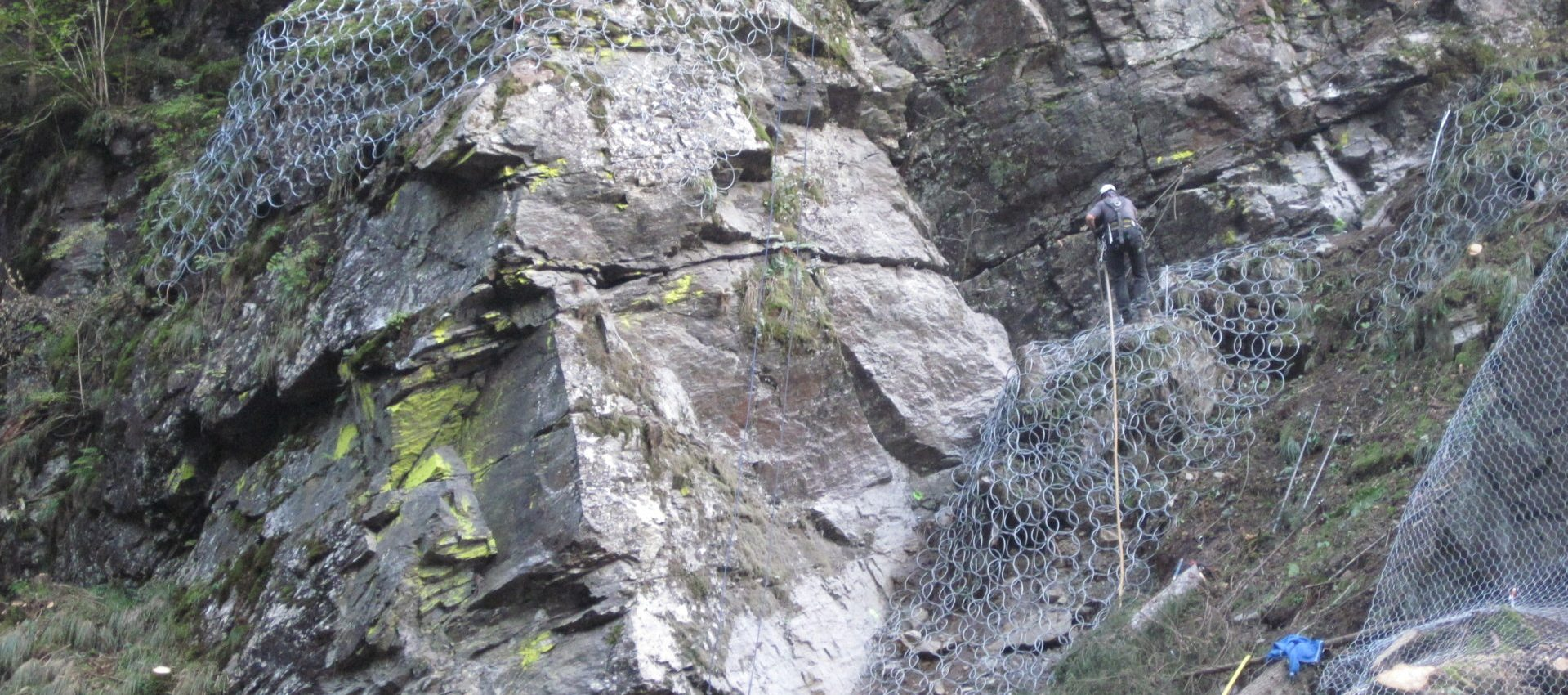 consolidamento reti pareti rocciose
