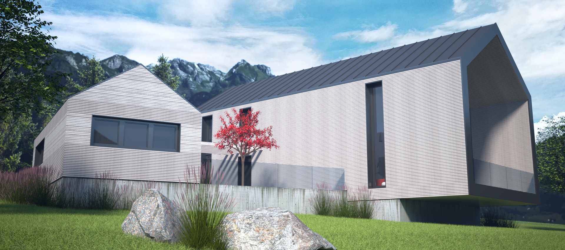 Edificio in legno standard passivhaus